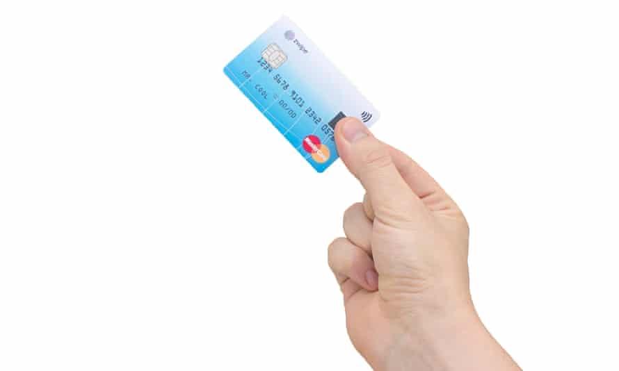 Mastercard biometric thumbprint card