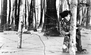 A still from Ivan's Childhood, set during the Second World War
