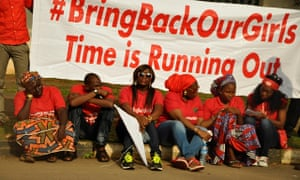 Members of the Abuja Bring Back Our Girls group during a protest march