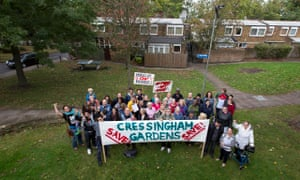 Campaigners and residents of Cressingham Gardens