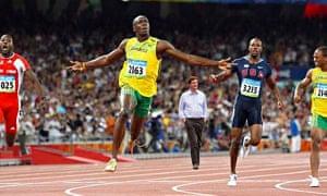 Danny Alexander photoshopped into Usain Bolt race