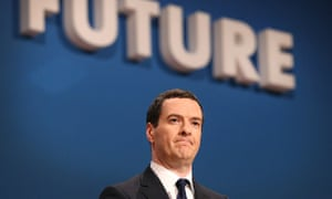 Future seems far from bright … George Osborne at the Conservative party conference. Photograph: Pete