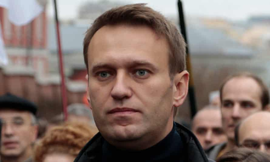 Alexei Navalny at an opposition rally in Moscow. Despite smears and little campaigning, he won 27% o