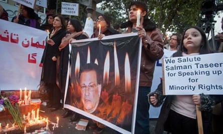 Vigil in commemoration of Salmaan Taseer