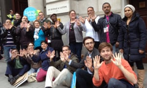 Whitehall cleaners and activists call for a Living Wage