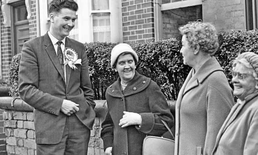 Peter Griffiths, Conservative candidate for Smethwick, in 1964. Photograph: Express and Star