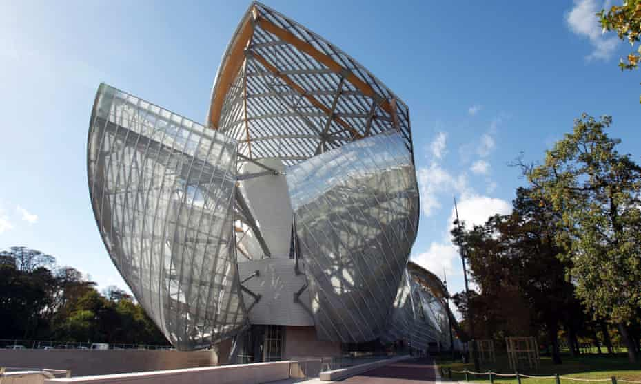 The Louis Vuitton Foundation for Creation modern and contemporary arts centre was designed by Frank Gehry.