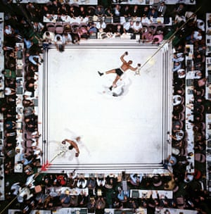 In 2003 this was voted the greatest sport photo ever by the Observer. Even Neil Leifer calls it his best shot – one, he says, on which he cannot improve. He's right. The pristine white canvas is the perfect backdrop, accentuating the two fighters whose figures are so neatly counterposed. I can't imagine boxing will ever look this sublime again.