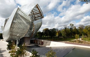 The Fondation Louis Vuitton.