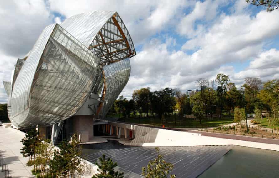 The Fondation Louis Vuitton.