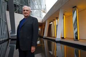 Frank Gehry at the Fondation Louis Vuitton last week.