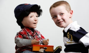 Kaspar is a lifelike doll created to help children with autism. Photograph: Observer