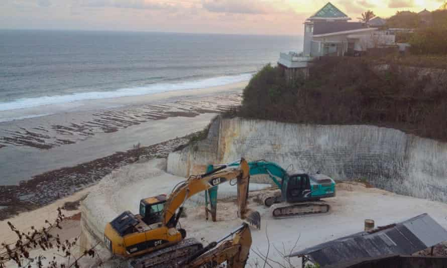 Some luxury hotel developments are excavating the iconic limestone cliffs at Bali's southern tip.