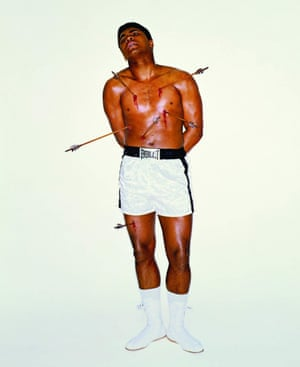 Muhammad Ali as St Sebastian for the cover of Esquire magazine in April 1968.