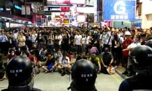hong kong standoff