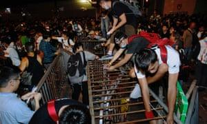 hong kong barricades