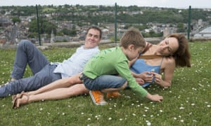 James Nesbitt, Oliver Hunt and Frances O'Connor in the BBC drama The Missing.