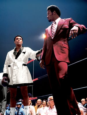The expressions, the simmering contempt, the outfits, the saturated colours – what's not to love about this image of Ali and George Foreman taken before Ali's second fight with Jerry Quarry?