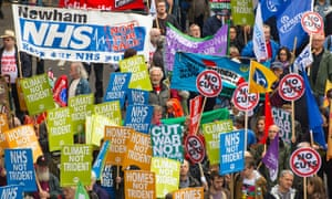 Protesters take part in the 'Britain Needs a Pay Rise' march in London