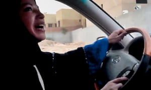 A Saudi Arabian woman driving as part of a campaign to defy Saudi Arabia's ban on women driving, in Riyadh