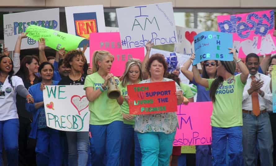 Texas Presbyterian staff rally