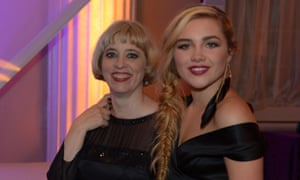 Film director Carol Morley and actor Florence Pugh attend the last night of the London Film Festival