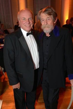 Greg Dyke and John Hurt