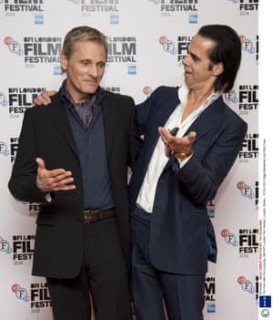 Viggo Mortensen and Nick Cave attend the screening of Far From Men
