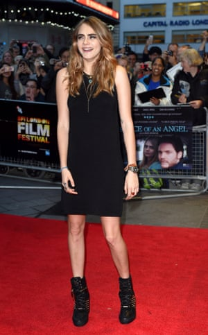 Cara Delevingne arrives for thew screening of her film The Face Of An Angel in which she plays Melanie an English student