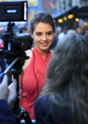 Genevieve Gaunt lead actor of Face Of An Angel arrives for its screening
