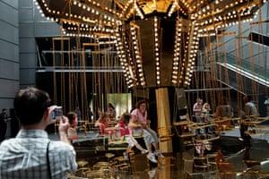 Carsten Holler's Golden Mirror Carousel