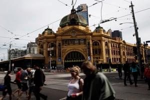 Melbourne festival, Flinders St Station
