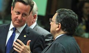 David Cameron, Jose Manuel Barroso