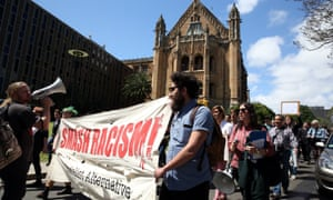 University of Sydney students rally on campus, calling for the sacking of Professor Barry Spurr.