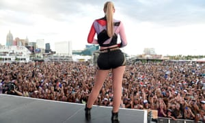 Rapper Iggy Azalea performs onstage in Las Vegas, Nevada.