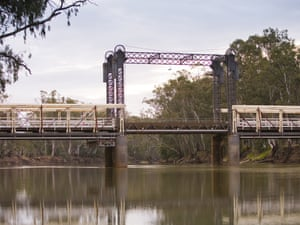 View of the Barham bridge crossing the Murray river, The Murray