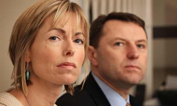 Kate and Gerry McCann at a press conference