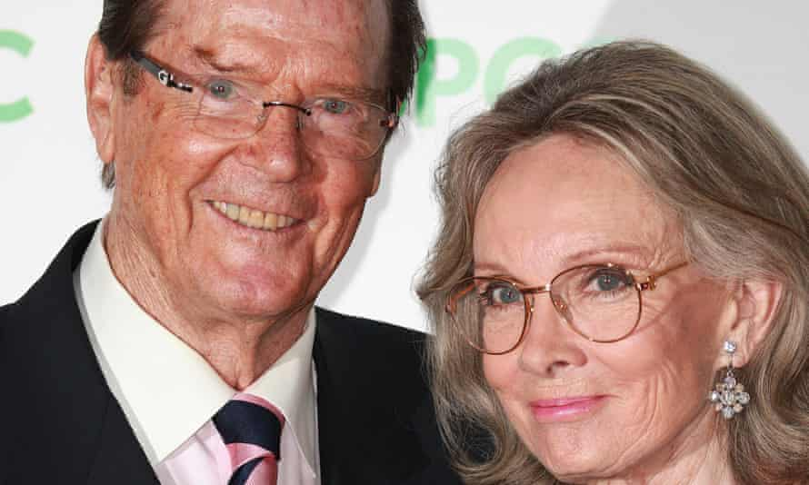 Roger Moore and Kristina Tholstrup at the event.