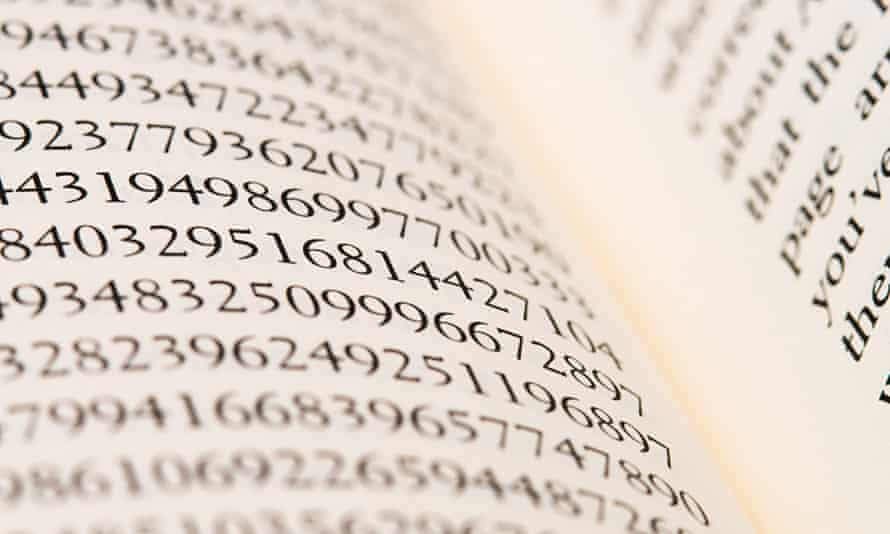Numbers in a book