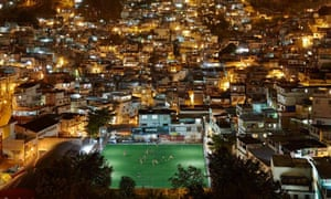 "The local football pitch in the Rio's Morro da Mineira neighbourhood. There 200 ""kinetic-harvesting"" tiles embedded in the pitch."