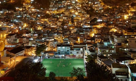 """The local football pitch in the Rio's Morro da Mineira neighbourhood. There 200 """"kinetic-harvesting"""" tiles embedded in the pitch."""