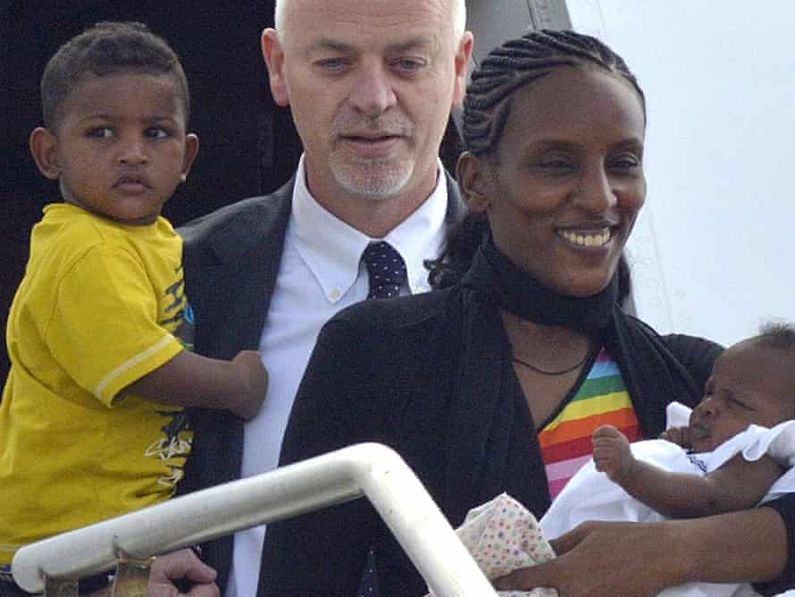 Meriam Ibrahim with her daughter Maya, Italian deputy foreign minister Lapo Pistelli and her son, Martin, after leaving Sudan for Italy before moving to the United States.