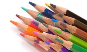 Coloured sketching pencils