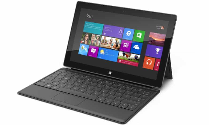 Windows 8 on a Surface Pro tablet