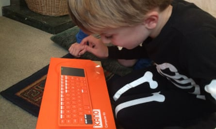 Kano's orange keyboard is instantly recognisable.