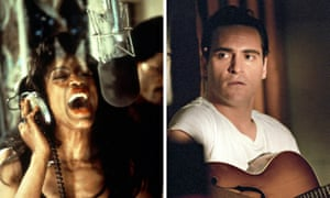 Captured lives: Angela Bassett in What's Love Got To Do With it and Joaquin Phoenix in Walk the Line