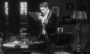 Sherlock Holmes silent film still