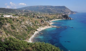 Beaches near Capo Vaticano.