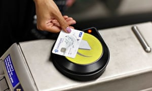 Contactless payments for tube tickets