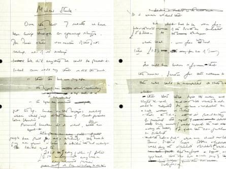 Margaret Thatcher speech notes